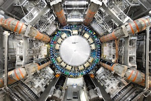 Full view of the open ATLAS Detector. Photo Courtesy of CERN